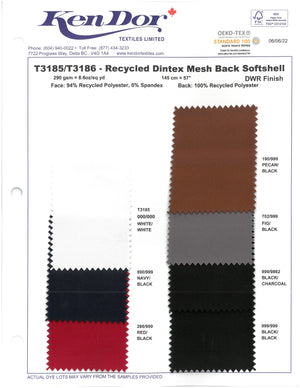 T3186 - Recycled Dintex Mesh Back Softshell