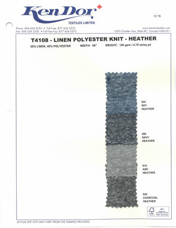 T4108 - Linen Polyester Jersey - Heather