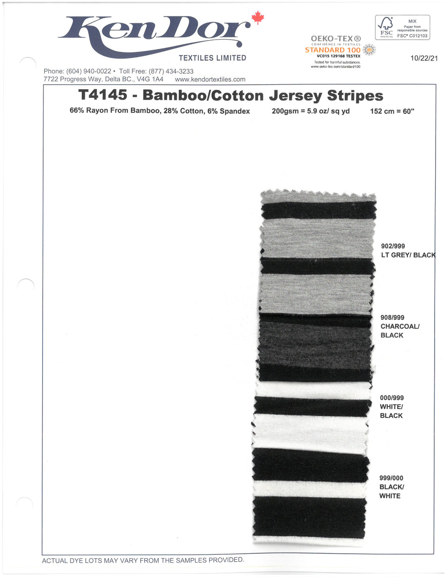 T4145 - Bamboo/Cotton Jersey Stripes