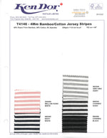 T4146 - 4mm Bamboo/Cotton Jersey Stripes