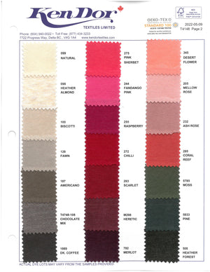 T4148/T4748 - Bamboo/Cotton Stretch Jersey