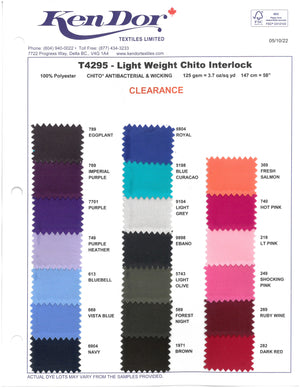T4294/T4295 - Light Weight ChitoSante Interlock