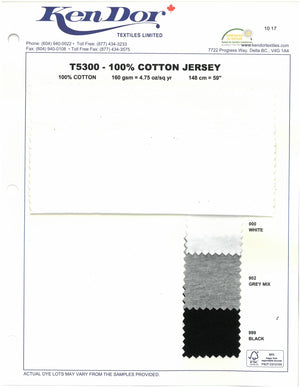 T5300 - 100% Cotton Jersey