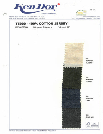 T5900 - 100% Cotton Jersey - Heather