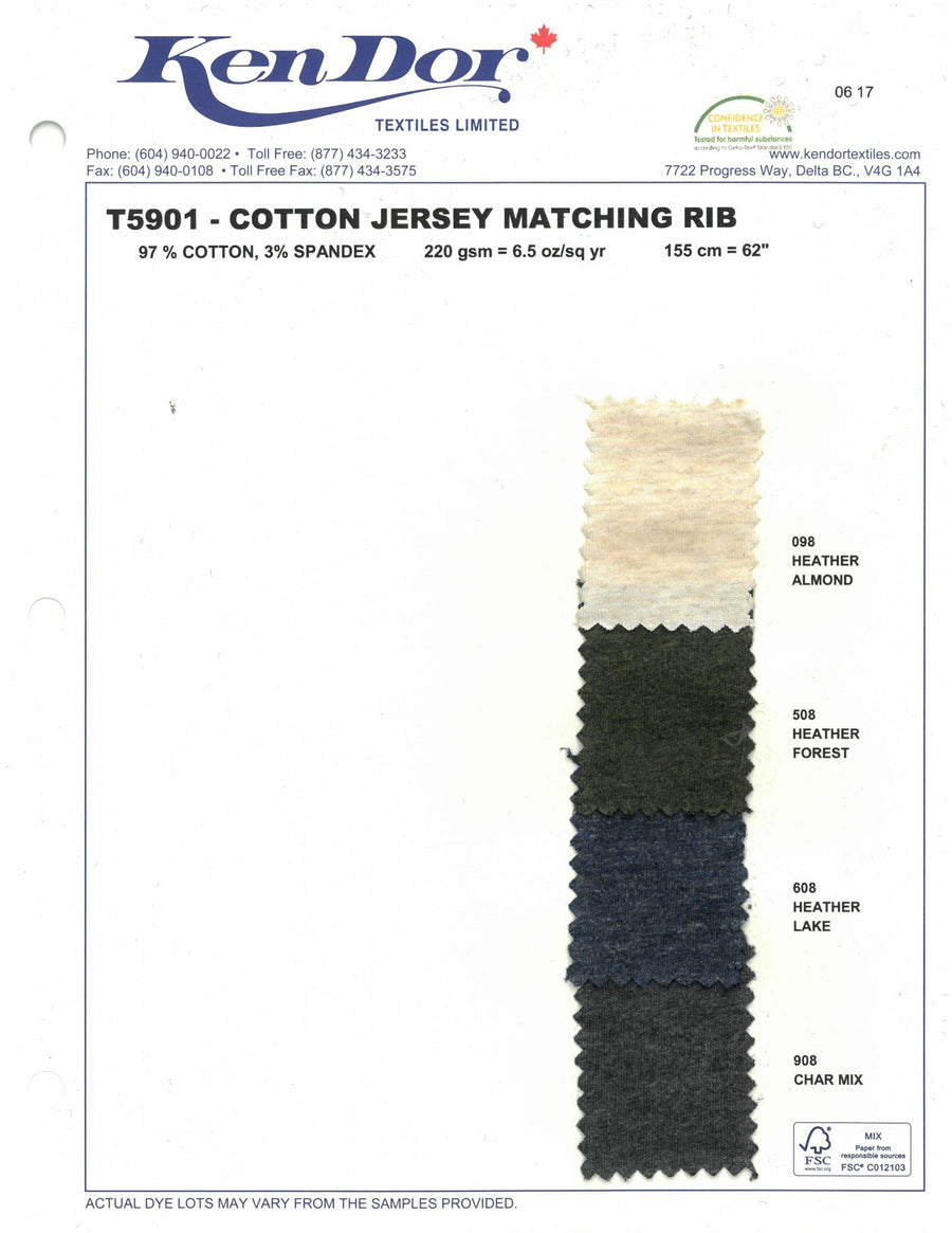 T5901 - Cotton Jersey Matching Rib