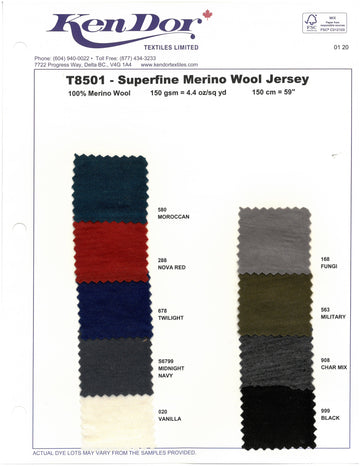 T8501 - Superfine Merino Wool Jersey