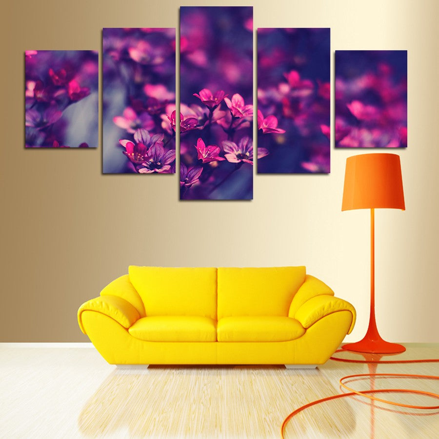 Limited Edition* High Quality HD 5 Panel Wall Art Canvas : Flower 27 ...