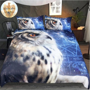 3D Time Traveler Owl by KhaliaArt Bedding Set