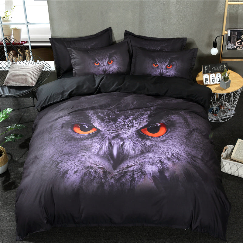 Stunning 3D Owl Bedding Set