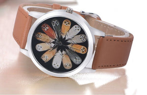 12 Feather Owls Species  Wristwatch