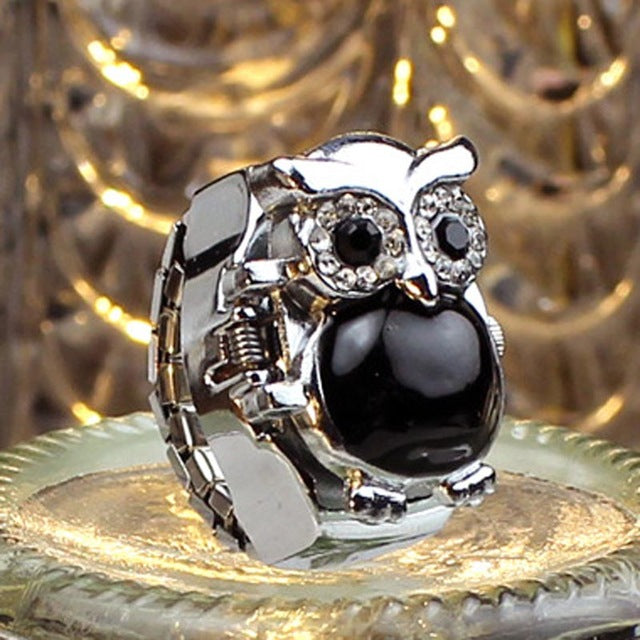 Quartz Owl Ring-Watch