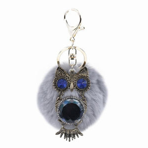 Fluffy Crystal Keychain