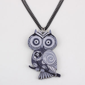 Coloring Your Soul Owl Necklace