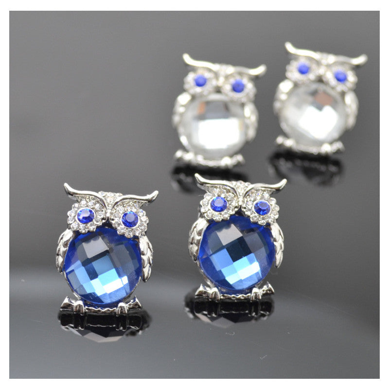 Cute Charm Owl Crystal Earings