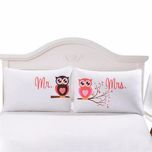 Mr and Mrs Owls Pillowcases