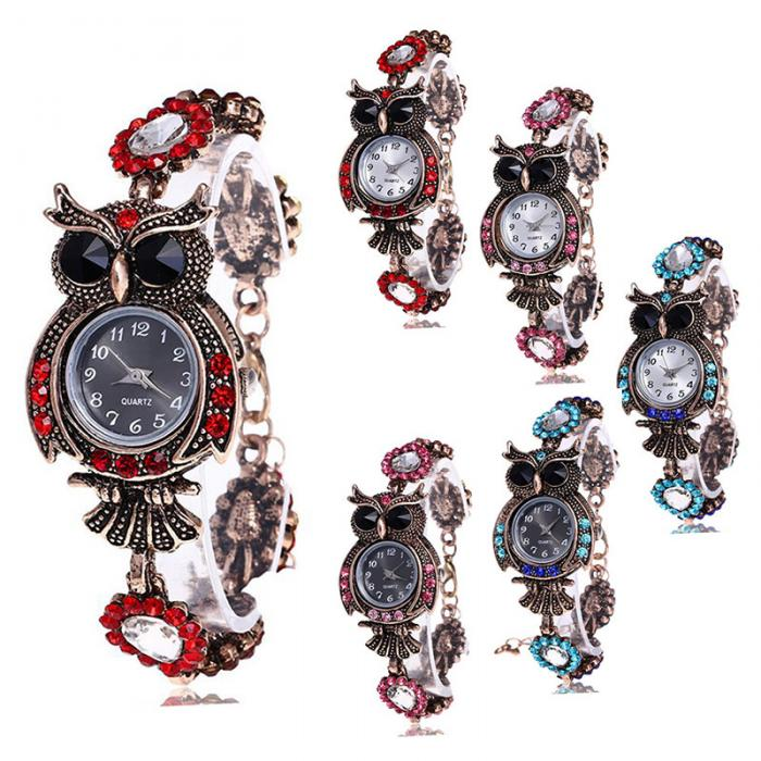 Luxury Quartz Wristwatch Owl Bracelet - New Colors!