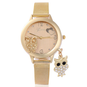 Pendant Quartz Owl Wristwatch