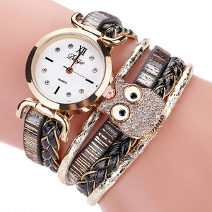 Braided Owl Wristwatch