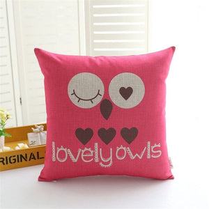 Winking Owl Pillow COVER
