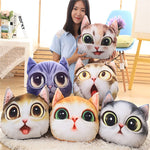 3D Realistic Cutie Kitten Pillow