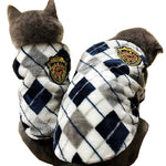 Cozy Elegant Flannel Cat & Dog Outfit