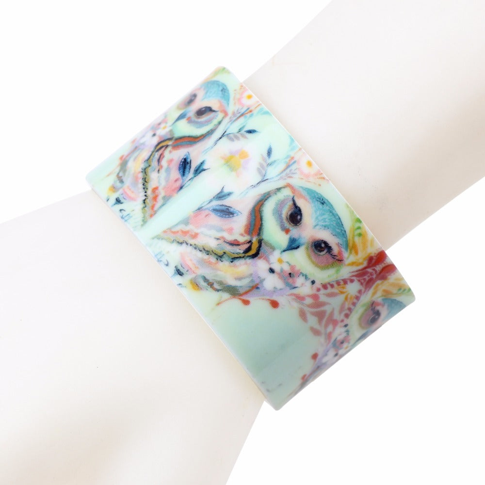 Dreamy Blooming Owls Bracelet