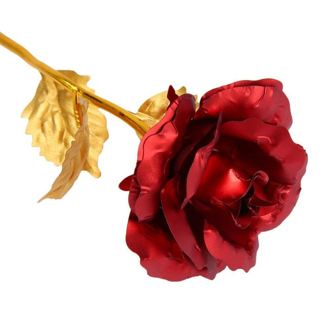Romantic 24k Gold Foil Plated Rose