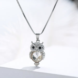 Mini Zircon Owl Necklace