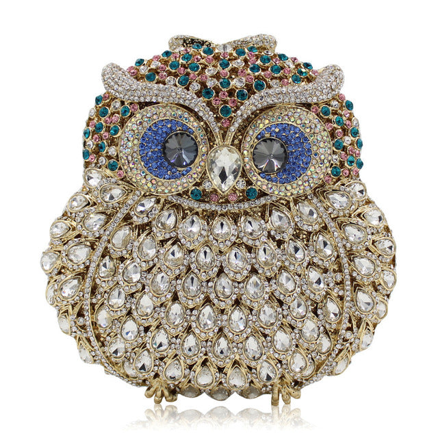 Luxury Owl Crystals Purse