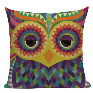 Out Of The Blue Linen Watercolor Owls Cushion Covers