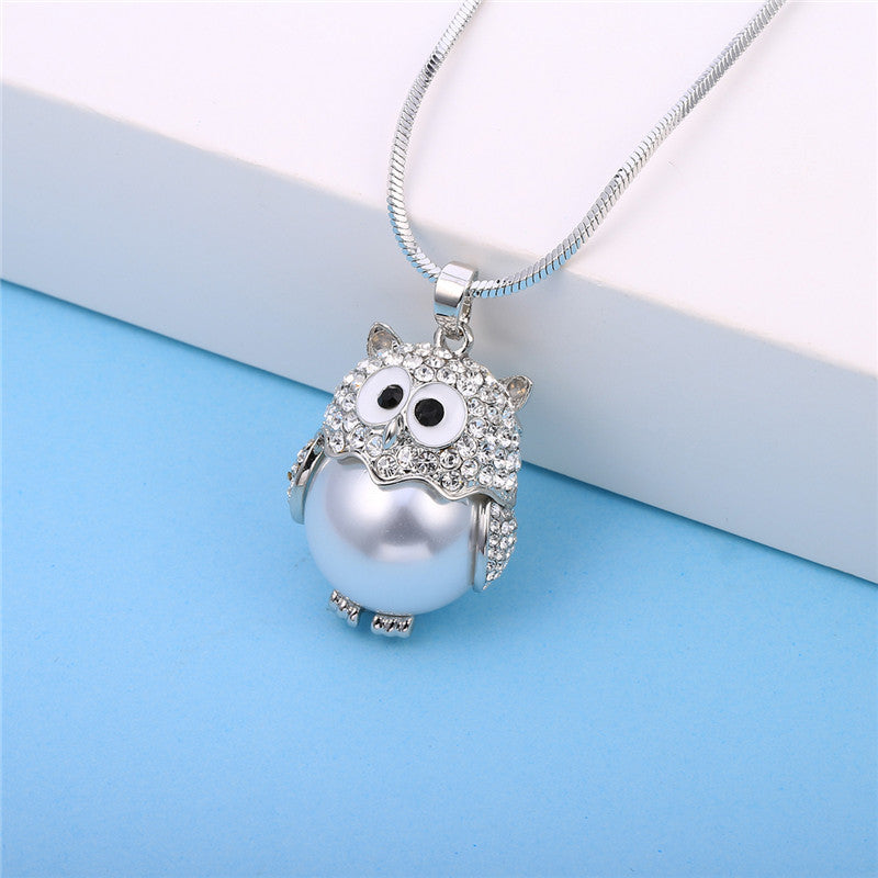 Sweet Lil Pearl Owl Necklace
