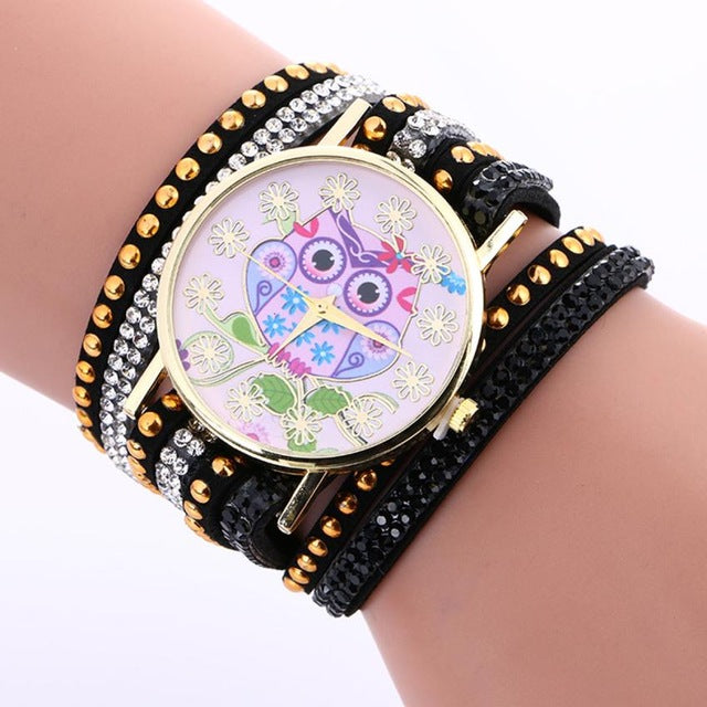 Stylish Owl Watch (8 Colors)
