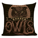 Vintage Home Decor Owl Cushion Cover