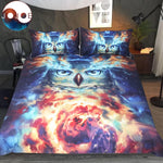 Psychedelic Owl Bedding Set by JoJoesArt