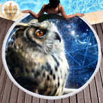 3D Time Traveler Owl Towel by Khalia Art