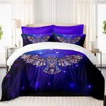 Stunning Flying Owl Galaxy Bedding Set