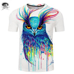 Into the Blue by Pixie Cold Watercolor Owl Art T-Shirt