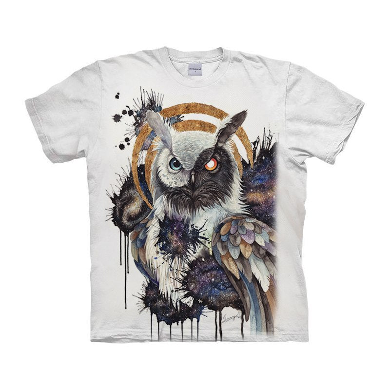 Yin Yang Owl T-Shirt By Brizbazaar Art