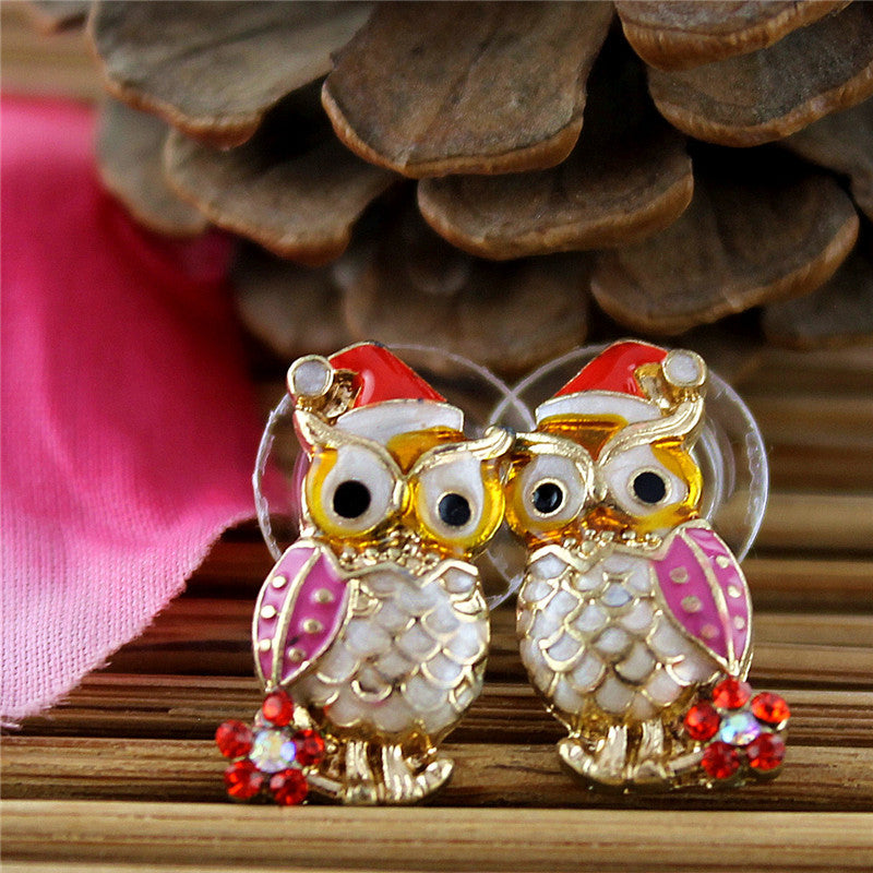 Christmas Owls Earrings