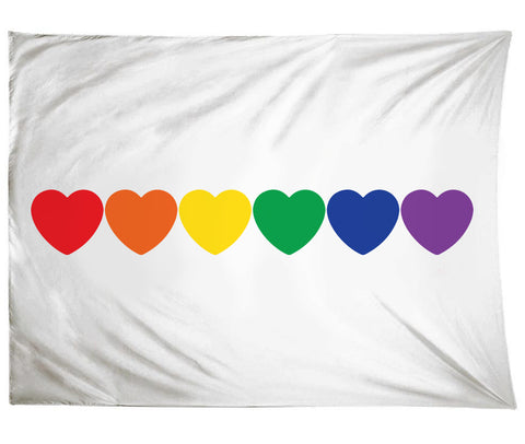 Rainbow Hearts Tapestry
