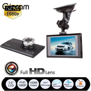 "Gizcam 3"" HD 1080P Car DVR Dash Camera G sensor Vehicle Video Seamless Cam Recorder Mini Micro Camera Black"