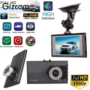 "Gizcam 3"" HD 1080P Car Auto DVR Dash Camera G sensor Vehicle Video Seamless Cam Recorder Mini Micro Camera"
