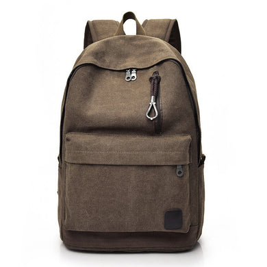 Casual Men Canvas Backpack School Travel Student School Laptop Bag