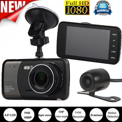HIPERDEAL 2017 New  4'' Dual Lens Camera HD 1080P Car  Vehicle Action Video Cameras Accessories Dash Cam Recorder G-Sensor