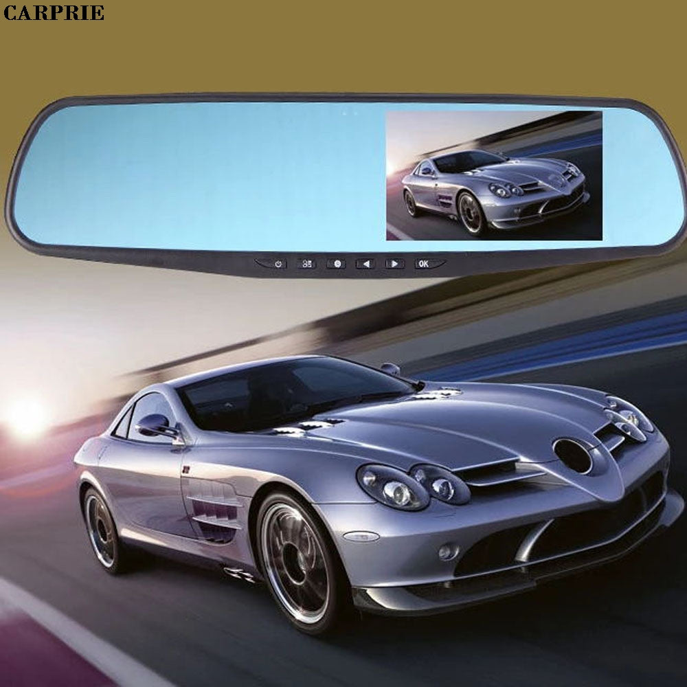 CARPRIE Full HD 1080P 4.3 Video Recorder Dash Cam Rearview Mirror Car Camera DVR  Night Vision Gps Car camera recorder
