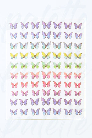 Pastel Butterfly Nail Sticker
