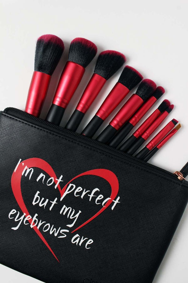 10-Piece Red Brush set