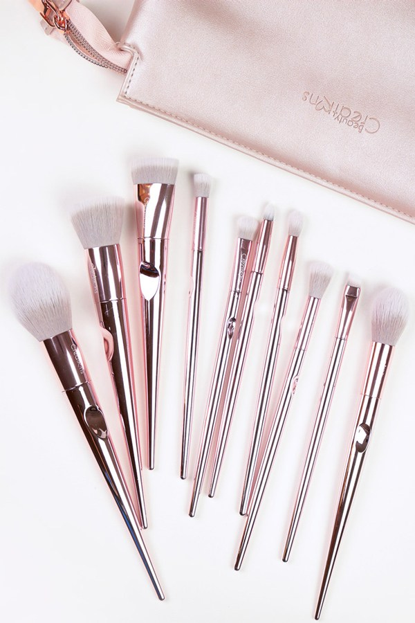 Champagne Love 10 Piece Brush Set