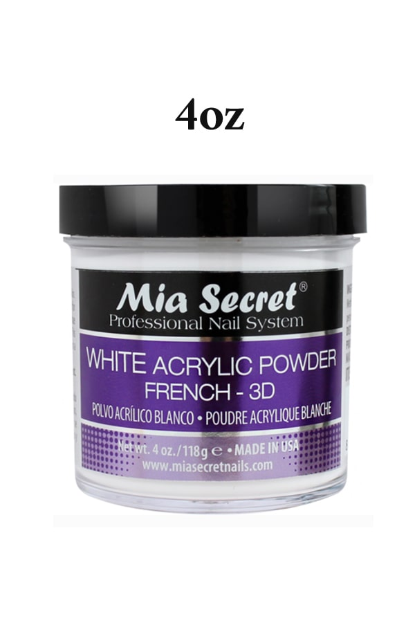 White Acrylic Powder French 3D by Mia Secret
