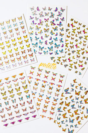 3D_Holo Butterfly Nail Stickers (Value Pack)